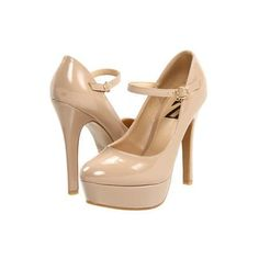 Type Z Lolla Mary Jane Pump High Heels - Nude Patent