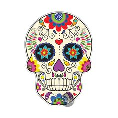 Mexican Sugar Skull Car Decal - Vinyl Waterproof Bumper Sticker Laptop Decal Day of the Dead Dia de los Muertos Decorative Flower Calavera by MeganJDesigns on Etsy https://www.etsy.com/listing/213289583/mexican-sugar-skull-car-decal-vinyl