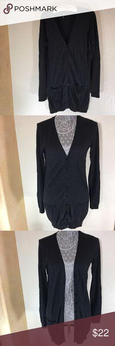 H&M Long Button Up Cardigan! Sz 8 H&M Long Button Up Cardigan! Sz 8 • dress it up or down •EUC! •2 Front pockets H&M Sweaters Cardigans