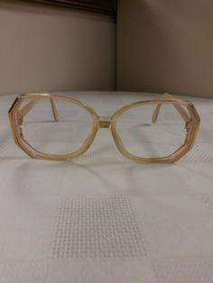 2bb1921b48 1980s Silhouette Eyeglasses Frame  Cream Beige w Gold Trim  Rx-able