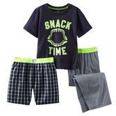 He'll snack his way to bedtime with these shark jaw PJs.<br>