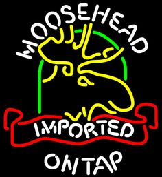 Moosehead Moose Imported On Top Neon Beer Sign, Moosehead Neon Beer Signs & Lights | Neon Beer Signs & Lights. Makes a great gift. High impact, eye catching, real glass tube neon sign. In stock. Ships in 5 days or less. Brand New Indoor Neon Sign. Neon Tube thickness is 9MM. All Neon Signs have 1 year warranty and 0% breakage guarantee.
