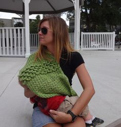 Nursing Scarf Infinity Scarf Crochet by MaryElizabethDesigns