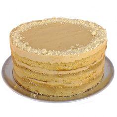 Dulce de leche cake - dulche de leche frosting, milk crumbs via Momofuku Milk Bar