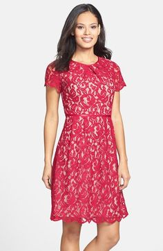 Lace Overlay Sheath Dress | Sheath dresses, Sleeve and Adrianna papell