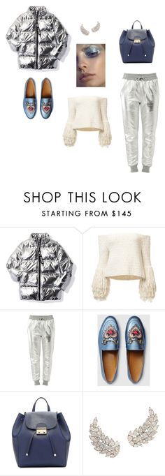 """""""Space"""" by ustine on Polyvore featuring moda, Ivy Park, Love Moschino, Gucci i GUESS"""