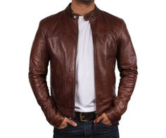 HIDEMARK BROWN ‪#‎BIKERLEATHERJACKET‬: Original Price: Rs.15,999 Offer Price: Rs.10,499 A great quality ‪#‎jacket‬ that will prefectly on you! No guy should be without this lightweight and utterly warm piece that is made using ‪#‎leather‬. http://bit.ly/1G4zff4