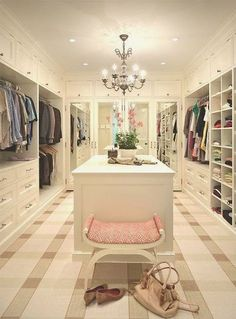 Walk In Closet Design - Design photos, ideas and inspiration. Amazing gallery of interior design and decorating ideas of Walk In Closet Design in closets by elite interior designers. Home, Closet Bedroom, House Design, Sweet Home, Closet Space, New Homes, Dream Rooms, Dream Closets, House Interior
