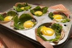 Oven Ready Prosciutto and Spinach Egg Cups by Aeerdna