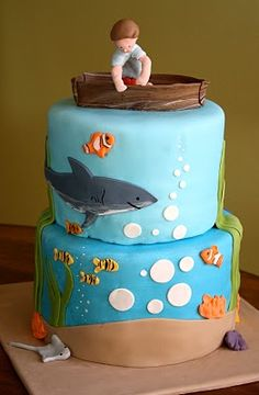 Boys Birthday Cakes | birthday boy in is birthday dory is the perfect topper for this cake ...