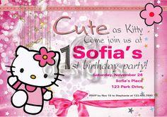 Odesigns Studio: Personalized Hello Kitty Party Set & Invitation