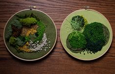 Hardcore Stitchcorps   leavingmybody:   moss embroideries for a show i...