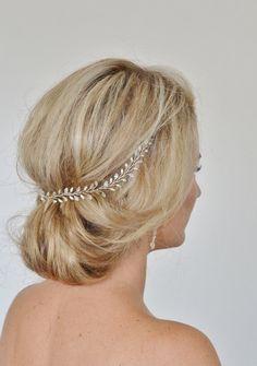 Braut Haar Rebe Hochzeit Haar Rebe Perle von RoslynHarrisDesigns