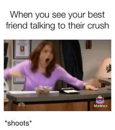 18 Crush Memes For Him. Girls here are some new crush memes for him…. Crush Memes For Him, Funny Crush Memes, Crush Humor, Funny Relatable Memes, Funny Texts, Funny Jokes, Funniest Memes, Top Funny, Funny Cute