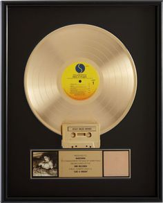 Madonna Like a Virgin RIAA Gold Album Award