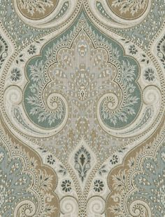 Stunning damask seafoam home fabric by Kravet. Item LATIKA.135.0. Low prices and free shipping on Kravet products. Over 100,000 designer patterns. Strictly 1st Quality. Width 54.5 inches. Sold by the yard.