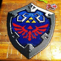 Hyrulian shield Zelda perler beads by BreezyLykTheWind on deviantART
