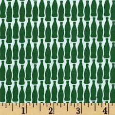 Michael Miller Sodalicious Lotsa Pop Bottle from @fabricdotcom  Designed by Emily Herrick for Michael Miller, this cotton print is perfect for quilting, apparel and home decor accents. Colors include green and white.