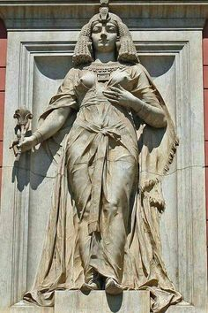 Cleopatra From The Facade Of The Egyptian Museum Cairo