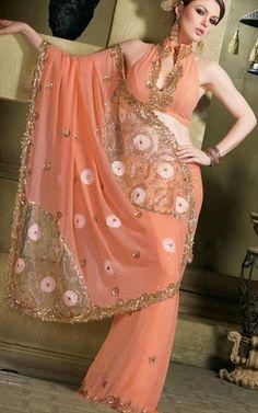 Halter saree blouse