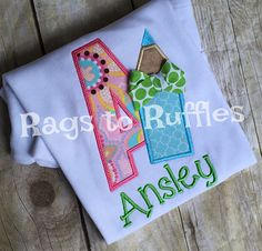 Back To School Personalized Shirt Personalized Color Pencil
