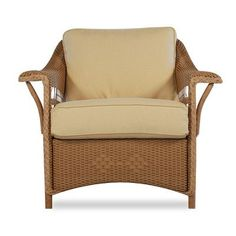 Lloyd Flanders Nantucket Lounge Chair with Cushions Fabric: Adobe Ground Fire, High UV Polyester, Finish: Antique Khaki