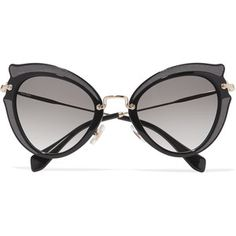 acef90d9e3b9 Miu Miu Embellished cat-eye acetate and gold-tone sunglasses Miu Miu Shop