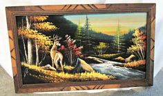 Hey, I found this really awesome Etsy listing at https://www.etsy.com/listing/211840505/woodland-nature-scenic-painting-deer