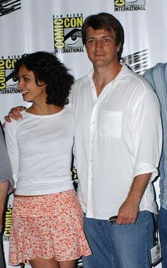 Nathan with his beautiful #firefly leading lady!   Morena Baccarin