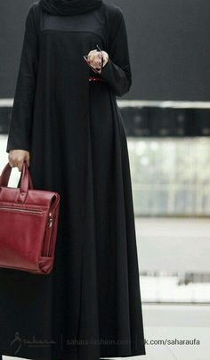 The most beautiful dress in Islam for a women Abaya Designs, Burqa Designs, Hijab Outfit, Hijab Dress, Islamic Fashion, Muslim Fashion, Abaya Fashion, Fashion Dresses, Abaya Mode