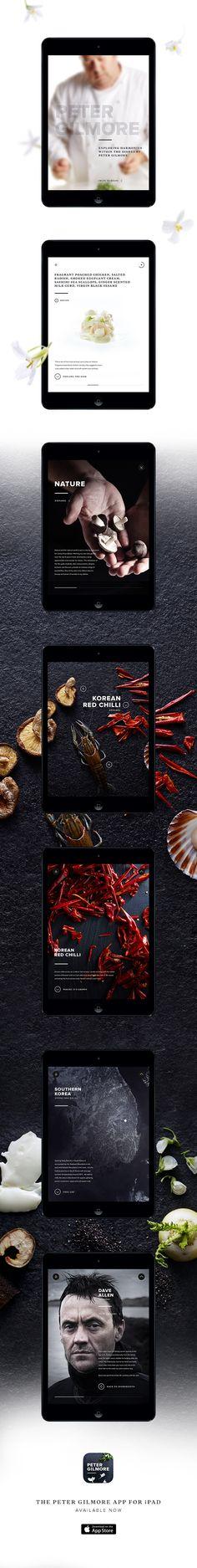 Peter Gilmore iPad App on Behance