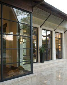 Even pets enjoy this beautiful view! Millennium Line | Durango Doors Suite 300 at The Houston Design Center http://durangodoors.com/