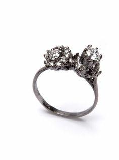 julia deville. white gold, old diamonds