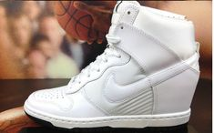 buy popular 41bc3 d76ec NIKE WOMENS DUNK SKY HIGH ESSENTIAL WEDGE WHITE 644877 101  nikedunksky   platforms  avl