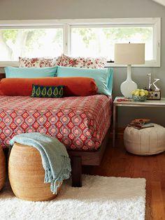 Bohemian Retro bedroom