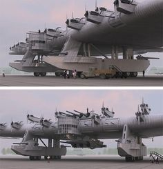 The Kalinin K-7, a Russian bomber plane concept from the 1930's.