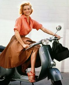 Angie Dickinson - Vespa Beauty #Scooters #BeautifulGirls #ItalianDesign #Want