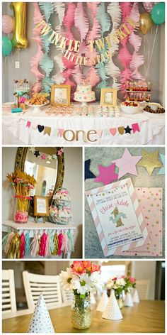 Twinkle, Twinkle Little Star First Birthday - cute decor, invitation and party food ideas!