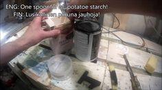 Tee se itse täyttöaine maalatulle puulle.