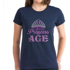Cafepress Personalized Birthday Princess Women's Dark T-Shirt, Size: XL, Blue