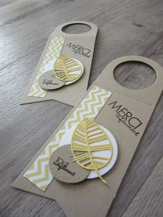 wine bottle tag tags with leaf leaves - eine bottle tag tags - leaf leaves Merci - toutes sortes de nouvelles cartes