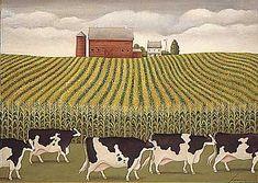 "Lowell Herrero (American, born 1921) ~ ""Nebraska Cornfield"""