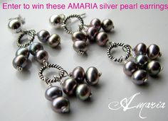 Amaria Giveaway a Day Contest Silver Pearl earrings by AMARIA