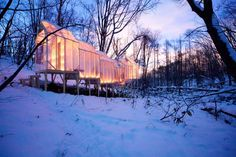 'fragile shelter' by hidemi nishida  is a temporary winter structure located deep in the forest of sapporo, japan, which looks to bring people together in an empathetic and unlikely space that  will leave no evidence of its existence once it has been dismantled.