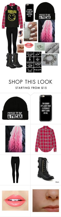 """""""Untitled #66"""" by life-sucks4664 ❤ liked on Polyvore featuring Casetify, R13, Wolford, Refresh and Fiebiger"""