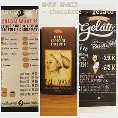 Made Manis is the best place to the finest selection of gelato chocolate and cream puff in Seminyak. @madeswarung @pouldeluxebali  #seminyak #gelatobali #madeswarung #warungmade #warung #restaurant #bali #kuta #seminyak #airport #breakfast #lunch #dinner #gelato #icecream #ilovebali #balilife #mint #creampuff #vanilla #madesgelato #foodporn #foodgasm #instafood #balitour #balitrip #asiancuisine #holidayinbali #weekendinbali #sweets #pouldeluxebali
