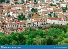 Spain Editorial Stock Image - Image of blue, city: 159183989 Pictures For Sale, Granada Spain, Red Roof, Andalusia, White Houses, Top View, Paris Skyline, Mansions, Architecture