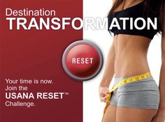 USANA Reset Destination Transformation. Decide! Commit! Believe! Achieve! Getting ready for the USANA Reset Weight Loss Challenge for a 28days  permanent weight loss