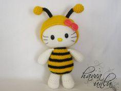 PATRÓN  Kitty en traje de la abeja Amigurumi por HavvaDesigns, $6.00