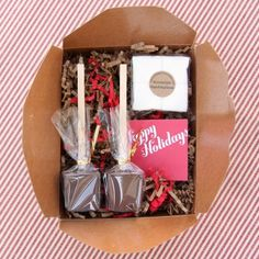 Decadent gourmet hot chocolate kit - fabulous holiday gift.